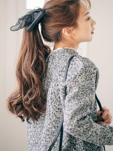 tóc đẹp mặc váy