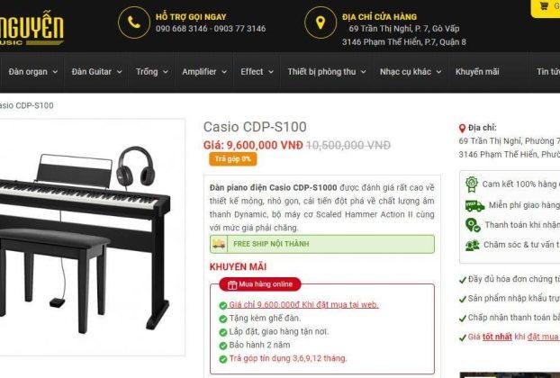 Cửa hàng bán Đàn Piano Điện Casio CDP-S100