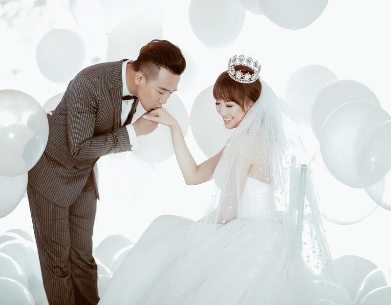 ảnh cưới đẹp đôi trấn thành hari