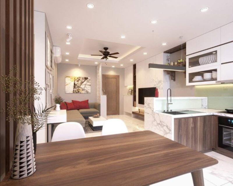 Nội thất thông minh đa năng cho nhà nhỏ đẹp với sự hài hòa xuyên suốt căn nhà